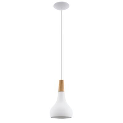 96981 Eglo - Подвес SABINARОдиночные<br><br><br>Установка на натяжной потолок: Да<br>S освещ. до, м2: 3<br>Крепление: Планка<br>Тип лампы: Накаливания / энергосбережения / светодиодная<br>Тип цоколя: E27<br>Цвет арматуры: белый<br>Количество ламп: 1<br>Диаметр, мм мм: 180<br>Высота полная, мм: 1100<br>Поверхность арматуры: матовая<br>Оттенок (цвет): белый<br>MAX мощность ламп, Вт: 60