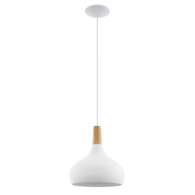 96982 Eglo - Подвес SABINARодиночные подвесные светильники<br><br><br>Установка на натяжной потолок: Да<br>S освещ. до, м2: 3<br>Крепление: Планка<br>Тип лампы: Накаливания / энергосбережения / светодиодная<br>Тип цоколя: E27<br>Цвет арматуры: белый<br>Количество ламп: 1<br>Диаметр, мм мм: 280<br>Высота полная, мм: 1100<br>Поверхность арматуры: матовая<br>Оттенок (цвет): белый<br>MAX мощность ламп, Вт: 60