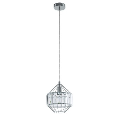 96988 Eglo - Подвес PEDROLAОдиночные<br><br><br>Установка на натяжной потолок: Да<br>Крепление: Планка<br>Тип лампы: Накаливания / энергосбережения / светодиодная<br>Тип цоколя: E27<br>Цвет арматуры: серебристый<br>Количество ламп: 1<br>Диаметр, мм мм: 220<br>Высота полная, мм: 1100<br>Поверхность арматуры: глянцевая<br>Оттенок (цвет): серебристый<br>MAX мощность ламп, Вт: 60