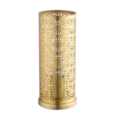 96991 Eglo - Настольная лампа BOCALНастольные лампы в восточном стиле<br><br><br>Тип лампы: Накаливания / энергосбережения / светодиодная<br>Тип цоколя: E27<br>Цвет арматуры: латунь<br>Количество ламп: 1<br>Диаметр, мм мм: 110<br>Поверхность арматуры: матовая<br>Оттенок (цвет): латунь<br>MAX мощность ламп, Вт: 60