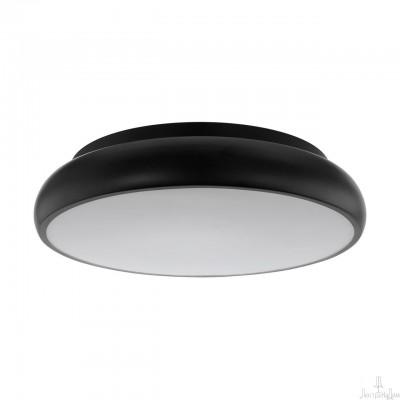 96996 Eglo - Светодиодный потол. светильник RIODEVA-C EGLO connectПотолочные<br><br><br>Установка на натяжной потолок: Да<br>S освещ. до, м2: 12<br>Крепление: Планка<br>Цветовая t, К: 2700-6500<br>Тип лампы: LED-светодиодная<br>Тип цоколя: LED<br>Цвет арматуры: Черный<br>Количество ламп: 1<br>Диаметр, мм мм: 445<br>Высота, мм: 105<br>MAX мощность ламп, Вт: 30