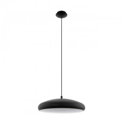 96997 Eglo - Светодиодный подвес RIODEVA-C EGLO connectодиночные подвесные светильники<br><br><br>Установка на натяжной потолок: Да<br>Крепление: Планка<br>Цветовая t, К: 2700-6500<br>Тип лампы: LED - светодиодная<br>Тип цоколя: LED<br>Цвет арматуры: Черный<br>Диаметр, мм мм: 445<br>Высота, мм: 1500<br>Оттенок (цвет): черный<br>MAX мощность ламп, Вт: 30