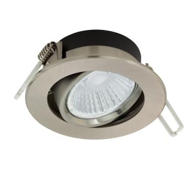 97028 Eglo - Светодиодный встраиваемый светильник RANERA диммир.Металлические потолочные светильники<br><br><br>Цветовая t, К: 2700<br>Тип лампы: LED - светодиодная<br>Тип цоколя: LED, встроенные светодиоды<br>Цвет арматуры: серебристый<br>Количество ламп: 1<br>Диаметр, мм мм: 85<br>Глубина, мм: 50<br>Диаметр врезного отверстия, мм: 70<br>Высота, мм: 30<br>Поверхность арматуры: матовая<br>Оттенок (цвет): никель<br>MAX мощность ламп, Вт: 6