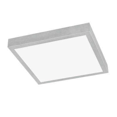 97034 Eglo - Светодиодный настенно-потолочный светильник IDUN 3Квадратные<br><br><br>Установка на натяжной потолок: Да<br>Цветовая t, К: 3000<br>Тип лампы: LED - светодиодная<br>Тип цоколя: LED, встроенные светодиоды<br>Цвет арматуры: серебристый<br>Количество ламп: 1<br>Ширина, мм: 320<br>Длина, мм: 320<br>Высота, мм: 95<br>Поверхность арматуры: матовая<br>Оттенок (цвет): серебристый<br>Общая мощность, Вт: 18