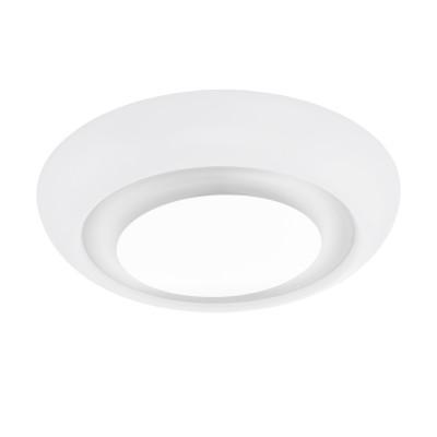 97038 Eglo - Светодиодный светильник настенно-потолочный СANUMA диммир.Круглые<br><br><br>Установка на натяжной потолок: Да<br>Крепление: Планка<br>Цветовая t, К: 2700 - 5000<br>Тип лампы: LED - светодиодная<br>Тип цоколя: LED, встроенные светодиоды<br>Цвет арматуры: белый<br>Количество ламп: 1<br>Диаметр, мм мм: 420<br>Высота, мм: 120<br>Поверхность арматуры: матовая<br>Оттенок (цвет): белый<br>Общая мощность, Вт: 18