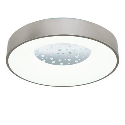 97049 Eglo - Светодиодный настенно-потолочный светильник CRISTELO с димм.круглые светильники<br><br><br>Установка на натяжной потолок: Да<br>Крепление: Планка<br>Цветовая t, К: 2700 - 5000<br>Тип лампы: LED - светодиодная<br>Тип цоколя: LED, встроенные светодиоды<br>Цвет арматуры: серебристый<br>Количество ламп: 1<br>Диаметр, мм мм: 500<br>Высота, мм: 100<br>Поверхность арматуры: матовая<br>Оттенок (цвет): серебристый<br>Общая мощность, Вт: 24