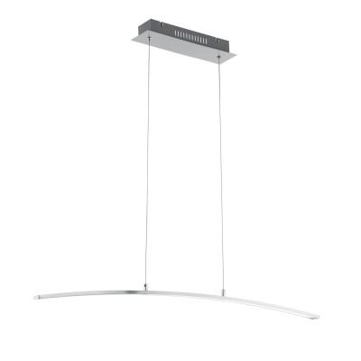 97064 Eglo - Светодиодный подвес FLAGRANERAдлинные подвесные светильники<br><br><br>Установка на натяжной потолок: Да<br>Крепление: Планка<br>Цветовая t, К: 3000<br>Тип лампы: LED - светодиодная<br>Тип цоколя: LED, встроенные светодиоды<br>Цвет арматуры: серебристый<br>Количество ламп: 1<br>Ширина, мм: 80<br>Высота полная, мм: 1100<br>Длина, мм: 1000<br>Поверхность арматуры: матовая<br>Оттенок (цвет): никель<br>Общая мощность, Вт: 19