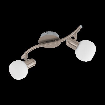 97709 Eglo светодиодный спот COMBAдвойные светильники споты<br>Компания «Светодом» предлагает широкий ассортимент люстр от известных производителей. Представленные в нашем каталоге товары выполнены из современных материалов и обладают отличным качеством. Благодаря широкому ассортименту Вы сможете найти у нас люстру под любой интерьер. Мы предлагаем как классические варианты, так и современные модели, отличающиеся лаконичностью и простотой форм.