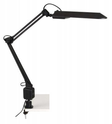 Светильник настольный Brilliant G99230/06 JobНа струбцине<br>Настольная лампа – это не просто источник дополнительного освещения, но и оригинальный элемент декора. Его можно установить в спальне, гостиной, кабинете и других комнатах. Интернет-магазин «Светодом» предлагает настольные лампы разных стилей по доступным ценам. Благодаря большому ассортименту Вы обязательно найдете в нашем каталоге именно ту модель, которую искали.   Настольная лампа Brilliant G99230/06 – прекрасный вариант для завершения интерьера. Ее можно включить одновременно с люстрой для более яркого освещения или без нее для создания уютной атмосферы, настраивающей на отдых.   Купить настольную лампу Brilliant G99230/06 Вы можете с помощью виртуальной «Корзины» или по контактным номерам, указанным на сайте.<br><br>Тип лампы: люминесцентная<br>Тип цоколя: G23<br>Количество ламп: 1<br>MAX мощность ламп, Вт: 11<br>Высота, мм: 800<br>Цвет арматуры: черный