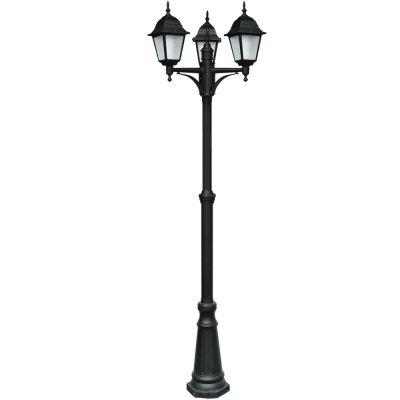 Светильник уличный Arte lamp A1017PA-3BK BremenБольшие фонари<br>Обеспечение качественного уличного освещения – важная задача для владельцев коттеджей. Компания «Светодом» предлагает современные светильники, которые порадуют Вас отличным исполнением. В нашем каталоге представлена продукция известных производителей, пользующихся популярностью благодаря высокому качеству выпускаемых товаров. <br> Уличный светильник Arte lamp A1017PA-3BK не просто обеспечит качественное освещение, но и станет украшением Вашего участка. Модель выполнена из современных материалов и имеет влагозащитный корпус, благодаря которому ей не страшны осадки. <br> Купить уличный светильник Arte lamp A1017PA-3BK, представленный в нашем каталоге, можно с помощью онлайн-формы для заказа. Чтобы задать имеющиеся вопросы, звоните нам по указанным телефонам. Мы доставим Ваш заказ не только в Москву и Екатеринбург, но и другие города.<br><br>S освещ. до, м2: 12<br>Тип лампы: накаливания / энергосбережения / LED-светодиодная<br>Тип цоколя: E27<br>Количество ламп: 3<br>Ширина, мм: 410<br>MAX мощность ламп, Вт: 60<br>Диаметр, мм мм: 510<br>Длина, мм: 510<br>Высота, мм: 2300<br>Цвет арматуры: черный