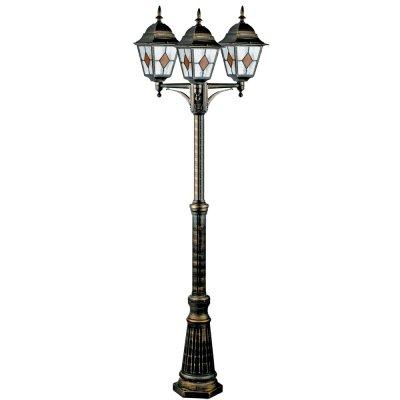 Светильник уличный Arte lamp A1017PA-3BN BerlinУличные фонари с несколькими плафонами<br>Обеспечение качественного уличного освещения – важная задача для владельцев коттеджей. Компания «Светодом» предлагает современные светильники, которые порадуют Вас отличным исполнением. В нашем каталоге представлена продукция известных производителей, пользующихся популярностью благодаря высокому качеству выпускаемых товаров. <br> Уличный светильник Arte lamp A1017PA-3BN не просто обеспечит качественное освещение, но и станет украшением Вашего участка. Модель выполнена из современных материалов и имеет влагозащитный корпус, благодаря которому ей не страшны осадки. <br> Купить уличный светильник Arte lamp A1017PA-3BN, представленный в нашем каталоге, можно с помощью онлайн-формы для заказа. Чтобы задать имеющиеся вопросы, звоните нам по указанным телефонам.<br><br>S освещ. до, м2: 20<br>Тип лампы: накаливания / энергосбережения / LED-светодиодная<br>Тип цоколя: E27<br>Цвет арматуры: черно-золотой<br>Количество ламп: 3<br>Ширина, мм: 530<br>Диаметр, мм мм: 610<br>Длина, мм: 610<br>Высота, мм: 2300<br>MAX мощность ламп, Вт: 100