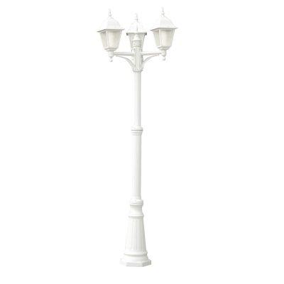Светильник уличный Arte lamp A1017PA-3WH BremenБольшие фонари<br>Обеспечение качественного уличного освещения – важная задача для владельцев коттеджей. Компания «Светодом» предлагает современные светильники, которые порадуют Вас отличным исполнением. В нашем каталоге представлена продукция известных производителей, пользующихся популярностью благодаря высокому качеству выпускаемых товаров.   Уличный светильник Arte lamp A1017PA-3WH не просто обеспечит качественное освещение, но и станет украшением Вашего участка. Модель выполнена из современных материалов и имеет влагозащитный корпус, благодаря которому ей не страшны осадки.   Купить уличный светильник Arte lamp A1017PA-3WH, представленный в нашем каталоге, можно с помощью онлайн-формы для заказа. Чтобы задать имеющиеся вопросы, звоните нам по указанным телефонам.<br><br>S освещ. до, м2: 12<br>Тип лампы: накаливания / энергосбережения / LED-светодиодная<br>Тип цоколя: E27<br>Цвет арматуры: белый<br>Количество ламп: 3<br>Ширина, мм: 410<br>Диаметр, мм мм: 510<br>Длина, мм: 510<br>Высота, мм: 2300<br>MAX мощность ламп, Вт: 60