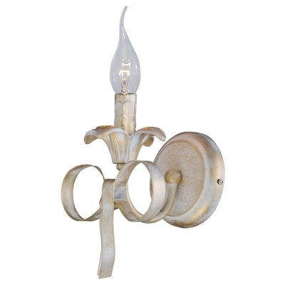 Светильник Arte lamp A1018AP-1GA OLIVIAклассические бра<br><br><br>Тип цоколя: E14<br>Количество ламп: 1<br>Ширина, мм: 160<br>Длина, мм: 200<br>Высота, мм: 390<br>MAX мощность ламп, Вт: 40