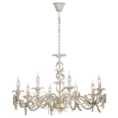 Светильник Arte lamp A1018LM-8GA OLIVIAПодвесные<br>Компания «Светодом» предлагает широкий ассортимент люстр от известных производителей. Представленные в нашем каталоге товары выполнены из современных материалов и обладают отличным качеством. Благодаря широкому ассортименту Вы сможете найти у нас люстру под любой интерьер. Мы предлагаем как классические варианты, так и современные модели, отличающиеся лаконичностью и простотой форм. <br>Стильная люстра Arte lamp A1018LM-8GA станет украшением любого дома. Эта модель от известного производителя не оставит равнодушным ценителей красивых и оригинальных предметов интерьера. Люстра Arte lamp A1018LM-8GA обеспечит равномерное распределение света по всей комнате. При выборе обратите внимание на характеристики, позволяющие приобрести наиболее подходящую модель. <br>Купить понравившуюся люстру по доступной цене Вы можете в интернет-магазине «Светодом».<br><br>Установка на натяжной потолок: Да<br>S освещ. до, м2: 16<br>Крепление: Крюк<br>Тип лампы: накал-я - энергосбер-я<br>Тип цоколя: E14<br>Цвет арматуры: белый с золотистой патиной<br>Количество ламп: 8<br>Диаметр, мм мм: 900<br>Высота, мм: 620<br>MAX мощность ламп, Вт: 40