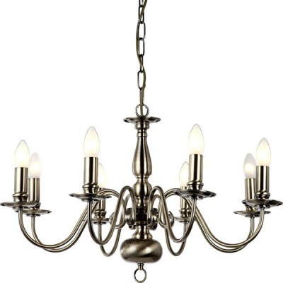 Люстра подвесная Arte lamp A1029LM-8AB AntwerpenПодвесные<br><br><br>Установка на натяжной потолок: Да<br>S освещ. до, м2: 22<br>Крепление: Крюк<br>Тип товара: Люстра подвесная<br>Скидка, %: 13<br>Тип лампы: накаливания / энергосбережения / LED-светодиодная<br>Тип цоколя: E14<br>Количество ламп: 8<br>Ширина, мм: 680<br>MAX мощность ламп, Вт: 40<br>Диаметр, мм мм: 680<br>Длина цепи/провода, мм: 900<br>Длина, мм: 400<br>Высота, мм: 400<br>Оттенок (цвет): бронзовый