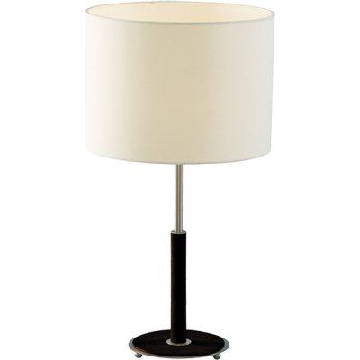 Светильник настольный Arte lamp A1038LT-1BK WoodsС абажуром<br>Настольная лампа – это не просто источник дополнительного освещения, но и оригинальный элемент декора. Его можно установить в спальне, гостиной, кабинете и других комнатах. Интернет-магазин «Светодом» предлагает настольные лампы разных стилей по доступным ценам. Благодаря большому ассортименту Вы обязательно найдете в нашем каталоге именно ту модель, которую искали.   Настольная лампа Arte lamp A1038LT-1BK – прекрасный вариант для завершения интерьера. Ее можно включить одновременно с люстрой для более яркого освещения или без нее для создания уютной атмосферы, настраивающей на отдых.   Купить настольную лампу Arte lamp A1038LT-1BK Вы можете с помощью виртуальной «Корзины» или по контактным номерам, указанным на сайте.<br><br>S освещ. до, м2: 4<br>Тип лампы: накал-я - энергосбер-я<br>Тип цоколя: E27<br>Количество ламп: 1<br>Ширина, мм: 300<br>MAX мощность ламп, Вт: 60<br>Диаметр, мм мм: 300<br>Высота, мм: 560<br>Цвет арматуры: серебристый