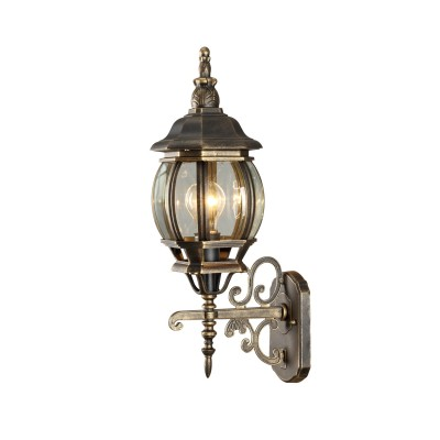 A1041AL-1BN Arte lamp СветильникНастенные<br><br><br>Тип цоколя: E27<br>Цвет арматуры: ЧЕРНО-ЗОЛОТОЙ<br>Количество ламп: 1<br>Диаметр, мм мм: 160<br>Длина, мм: 220<br>Высота, мм: 520<br>MAX мощность ламп, Вт: 75W<br>Общая мощность, Вт: 75W