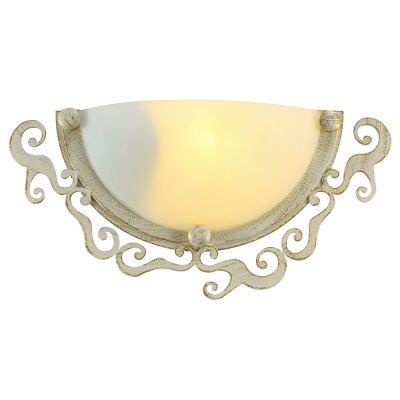 Светильник бра Arte lamp A1060AP-1WG RiccioliСовременные<br><br><br>Тип лампы: Накаливания / энергосбережения / светодиодная<br>Тип цоколя: E27<br>Количество ламп: 1<br>Ширина, мм: 90<br>MAX мощность ламп, Вт: 60<br>Длина, мм: 320<br>Высота, мм: 160<br>Цвет арматуры: белый с золотистой патиной