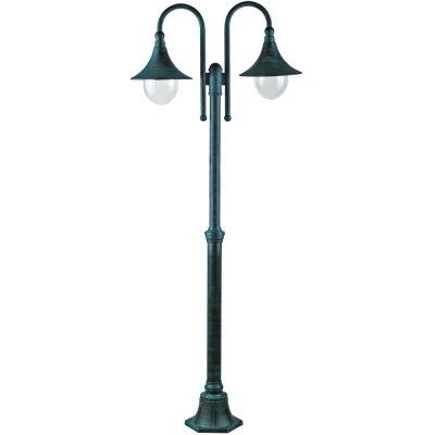 Светильник уличный Arte lamp A1086PA-2BG MalagaУличные фонари с несколькими плафонами<br>Обеспечение качественного уличного освещения – важная задача для владельцев коттеджей. Компания «Светодом» предлагает современные светильники, которые порадуют Вас отличным исполнением. В нашем каталоге представлена продукция известных производителей, пользующихся популярностью благодаря высокому качеству выпускаемых товаров. <br> Уличный светильник Arte lamp A1086PA-2BG не просто обеспечит качественное освещение, но и станет украшением Вашего участка. Модель выполнена из современных материалов и имеет влагозащитный корпус, благодаря которому ей не страшны осадки. <br> Купить уличный светильник Arte lamp A1086PA-2BG, представленный в нашем каталоге, можно с помощью онлайн-формы для заказа. Чтобы задать имеющиеся вопросы, звоните нам по указанным телефонам.<br><br>S освещ. до, м2: 14<br>Тип лампы: накаливания / энергосбережения / LED-светодиодная<br>Тип цоколя: E27<br>Цвет арматуры: медный<br>Количество ламп: 2<br>Ширина, мм: 250<br>Диаметр, мм мм: 760<br>Длина, мм: 760<br>Высота, мм: 2300<br>MAX мощность ламп, Вт: 100