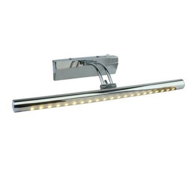 A1105AP-1CC Arte lamp СветильникДля картин/зеркал<br><br><br>Цветовая t, К: 3000K<br>Тип цоколя: LED<br>Количество ламп: 1<br>MAX мощность ламп, Вт: 5W<br>Диаметр, мм мм: 200<br>Размеры: 400MM<br>Длина, мм: 400<br>Высота, мм: 70<br>Цвет арматуры: Серебристый хром<br>Общая мощность, Вт: 5W