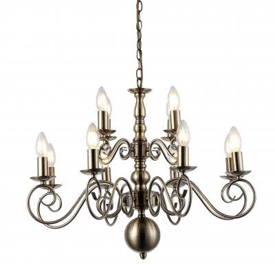 Светильник Arte Lamp A1129LM-12ABлюстры подвесные классические<br>Светильник Arte Lamp A1129LM-12AB сделает Ваш интерьер современным, стильным и запоминающимся! Наиболее функционально и эстетически привлекательно модель будет смотреться в гостиной, зале, холле или другой комнате. А в комплекте с настенными бра и торшером из этой же коллекции, сделает интерьер по-дизайнерски профессиональным и законченным.