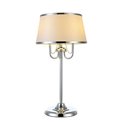 Светильник настольный Arte lamp A1150LT-3CC DanteКлассические настольные лампы<br><br><br>Тип цоколя: E14<br>Цвет арматуры: Серебристый хром<br>Количество ламп: 3<br>Диаметр, мм мм: 350<br>Размеры: ?350?H600<br>Длина, мм: 350<br>Высота, мм: 600<br>MAX мощность ламп, Вт: 60W<br>Общая мощность, Вт: 60W