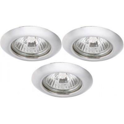 Светильник встраиваемый Arte lamp A1203PL-3CC Praktisch (3шт)Архив<br><br><br>S освещ. до, м2: 10<br>Тип лампы: галогенная<br>Тип цоколя: GU10<br>Цвет арматуры: серебристый<br>Количество ламп: 3<br>Ширина, мм: 80<br>Диаметр, мм мм: 80<br>Диаметр врезного отверстия, мм: 55<br>Высота, мм: 110<br>MAX мощность ламп, Вт: 50