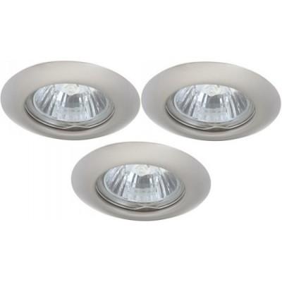 Светильник встраиваемый Arte lamp A1203PL-3SS PraktischКруглые<br>Встраиваемые светильники – популярное осветительное оборудование, которое можно использовать в качестве основного источника или в дополнение к люстре. Они позволяют создать нужную атмосферу атмосферу и привнести в интерьер уют и комфорт.   Интернет-магазин «Светодом» предлагает стильный встраиваемый светильник ARTE Lamp A1203PL-3SS. Данная модель достаточно универсальна, поэтому подойдет практически под любой интерьер. Перед покупкой не забудьте ознакомиться с техническими параметрами, чтобы узнать тип цоколя, площадь освещения и другие важные характеристики.   Приобрести встраиваемый светильник ARTE Lamp A1203PL-3SS в нашем онлайн-магазине Вы можете либо с помощью «Корзины», либо по контактным номерам. Мы развозим заказы по Москве, Екатеринбургу и остальным российским городам.<br><br>S освещ. до, м2: 10<br>Тип лампы: галогенная<br>Тип цоколя: GU10<br>Количество ламп: 3<br>Ширина, мм: 80<br>MAX мощность ламп, Вт: 50<br>Диаметр, мм мм: 80<br>Диаметр врезного отверстия, мм: 55<br>Высота, мм: 110<br>Цвет арматуры: серебристый
