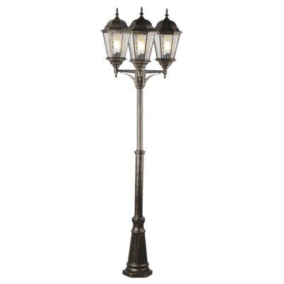 Светильник столб уличный Arte lamp A1207PA-3BN GenovaБольшие фонари<br>Обеспечение качественного уличного освещения – важная задача для владельцев коттеджей. Компания «Светодом» предлагает современные светильники, которые порадуют Вас отличным исполнением. В нашем каталоге представлена продукция известных производителей, пользующихся популярностью благодаря высокому качеству выпускаемых товаров.   Уличный светильник Arte lamp A1207PA-3BN не просто обеспечит качественное освещение, но и станет украшением Вашего участка. Модель выполнена из современных материалов и имеет влагозащитный корпус, благодаря которому ей не страшны осадки.   Купить уличный светильник Arte lamp A1207PA-3BN, представленный в нашем каталоге, можно с помощью онлайн-формы для заказа. Чтобы задать имеющиеся вопросы, звоните нам по указанным телефонам. Мы доставим Ваш заказ не только в Москву и Екатеринбург, но и другие города.<br><br>S освещ. до, м2: 20<br>Тип лампы: накаливания / энергосбережения / LED-светодиодная<br>Тип цоколя: E27<br>Количество ламп: 3<br>Ширина, мм: 650<br>MAX мощность ламп, Вт: 100<br>Диаметр, мм мм: 650<br>Высота, мм: 2300
