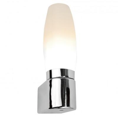 Светильник настенный бра Arte lamp A1209AP-1CC AQUAСовременные<br><br><br>Тип лампы: Накаливания / энергосбережения / светодиодная<br>Тип цоколя: E14<br>Цвет арматуры: серебристый<br>Количество ламп: 1<br>Размеры: H24xW8xL6<br>MAX мощность ламп, Вт: 40