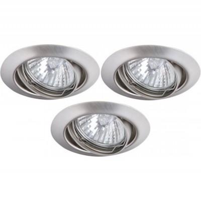 Светильник встраиваемый Arte lamp A1213PL-3SS PraktischКруглые<br>Встраиваемые светильники – популярное осветительное оборудование, которое можно использовать в качестве основного источника или в дополнение к люстре. Они позволяют создать нужную атмосферу атмосферу и привнести в интерьер уют и комфорт.   Интернет-магазин «Светодом» предлагает стильный встраиваемый светильник ARTE Lamp A1213PL-3SS. Данная модель достаточно универсальна, поэтому подойдет практически под любой интерьер. Перед покупкой не забудьте ознакомиться с техническими параметрами, чтобы узнать тип цоколя, площадь освещения и другие важные характеристики.   Приобрести встраиваемый светильник ARTE Lamp A1213PL-3SS в нашем онлайн-магазине Вы можете либо с помощью «Корзины», либо по контактным номерам. Мы развозим заказы по Москве, Екатеринбургу и остальным российским городам.<br><br>S освещ. до, м2: 10<br>Тип лампы: галогенная<br>Тип цоколя: GU10<br>Цвет арматуры: серебристый<br>Количество ламп: 3<br>Ширина, мм: 82<br>Диаметр, мм мм: 82<br>Диаметр врезного отверстия, мм: 70<br>Высота, мм: 110<br>MAX мощность ламп, Вт: 50