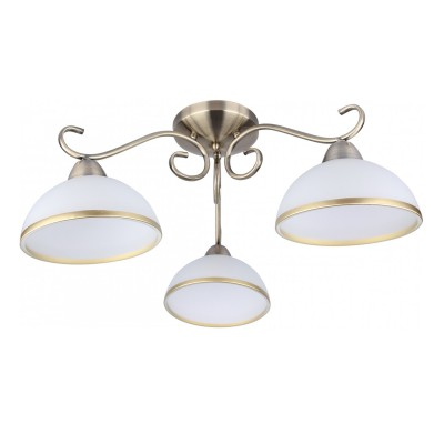 A1221PL-3AB Arte lamp СветильникПотолочные<br><br><br>Тип лампы: Накаливания / энергосбережения / светодиодная<br>Тип цоколя: E27<br>Цвет арматуры: античный бронзовый<br>Количество ламп: 3<br>Диаметр, мм мм: 630<br>Размеры: D520*520*270<br>Длина, мм: 630<br>Высота, мм: 240<br>MAX мощность ламп, Вт: 40W<br>Общая мощность, Вт: 40W