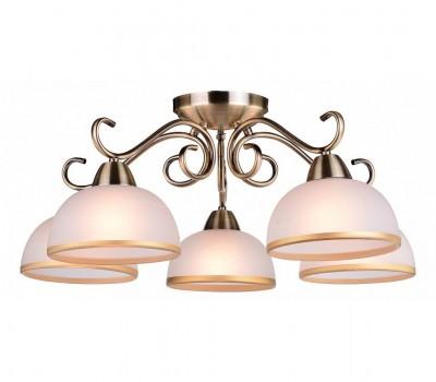 Светильник потолочный Arte lamp A1221PL-5AB Ginevraсовременные потолочные люстры модерн<br><br><br>S освещ. до, м2: 10<br>Тип лампы: накаливания / энергосбережения / LED-светодиодная<br>Тип цоколя: E27<br>Цвет арматуры: античный бронзовый<br>Количество ламп: 5<br>Диаметр, мм мм: 630<br>Размеры: D520*520*270<br>Длина, мм: 630<br>Высота, мм: 240<br>MAX мощность ламп, Вт: 40W<br>Общая мощность, Вт: 40W