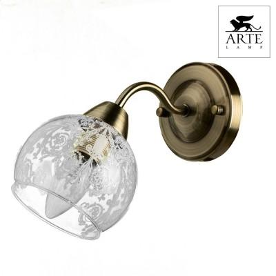 Светильник Arte lamp A1292AP-1AB MARTINAМодерн<br><br><br>Тип лампы: Накаливания / энергосбережения / светодиодная<br>Тип цоколя: E14<br>Количество ламп: 1<br>MAX мощность ламп, Вт: 40<br>Размеры: H18xW23xL11<br>Цвет арматуры: бронзовый