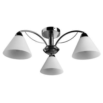 Светильник Arte lamp A1298PL-3CC FEDERICAПотолочные<br><br><br>Установка на натяжной потолок: Да<br>S освещ. до, м2: 6<br>Крепление: Планка<br>Тип лампы: Накаливания / энергосбережения / светодиодная<br>Тип цоколя: E14<br>Количество ламп: 3<br>MAX мощность ламп, Вт: 40<br>Диаметр, мм мм: 610<br>Размеры: H23xW61xL61<br>Высота, мм: 230<br>Цвет арматуры: серебристый