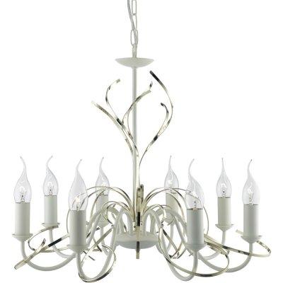 Люстра подвесная Arte lamp A1309LM-8WC CintaПодвесные<br>Компания «Светодом» предлагает широкий ассортимент люстр от известных производителей. Представленные в нашем каталоге товары выполнены из современных материалов и обладают отличным качеством. Благодаря широкому ассортименту Вы сможете найти у нас люстру под любой интерьер. Мы предлагаем как классические варианты, так и современные модели, отличающиеся лаконичностью и простотой форм.  Стильная люстра Arte lamp A1309LM-8WC станет украшением любого дома. Эта модель от известного производителя не оставит равнодушным ценителей красивых и оригинальных предметов интерьера. Люстра Arte lamp A1309LM-8WC обеспечит равномерное распределение света по всей комнате. При выборе обратите внимание на характеристики, позволяющие приобрести наиболее подходящую модель. Купить понравившуюся люстру по доступной цене Вы можете в интернет-магазине «Светодом».<br><br>Установка на натяжной потолок: Да<br>S освещ. до, м2: 24<br>Крепление: Планка<br>Тип лампы: накаливания / энергосбережения / LED-светодиодная<br>Тип цоколя: E14<br>Количество ламп: 8<br>MAX мощность ламп, Вт: 60<br>Диаметр, мм мм: 520<br>Длина цепи/провода, мм: 550<br>Высота, мм: 460<br>Цвет арматуры: белый