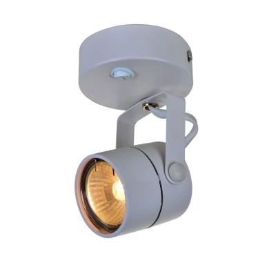 A1310AP-1WH Arte lamp СветильникОдиночные<br><br><br>S освещ. до, м2: 3<br>Тип цоколя: GU10<br>Цвет арматуры: БЕЛЫЙ<br>Количество ламп: 1<br>Диаметр, мм мм: 80<br>Размеры: D80*H115mm<br>Длина, мм: 140<br>Высота, мм: 80<br>MAX мощность ламп, Вт: 50W<br>Общая мощность, Вт: 50W