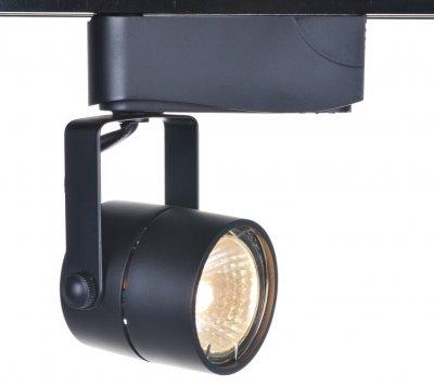 Светильник потолочный Arte lamp A1310PL-1BK TrackСветильники для трека<br><br><br>Тип цоколя: GU10<br>MAX мощность ламп, Вт: 50<br>Размеры: H14xW6xL8<br>Цвет арматуры: черный