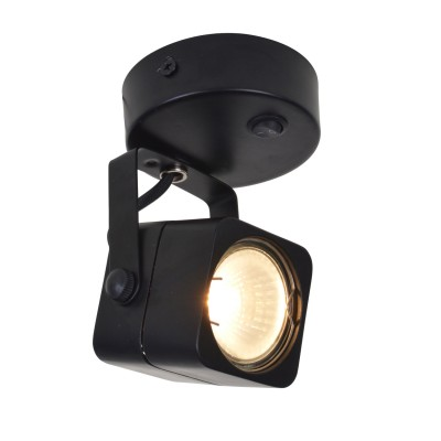 A1314AP-1BK Arte lamp СветильникОдиночные<br><br><br>S освещ. до, м2: 3<br>Тип цоколя: GU10<br>Цвет арматуры: ЧЕРНЫЙ<br>Количество ламп: 1<br>Диаметр, мм мм: 80<br>Размеры: D80*H115mm<br>Длина, мм: 140<br>Высота, мм: 80<br>MAX мощность ламп, Вт: 50W<br>Общая мощность, Вт: 50W