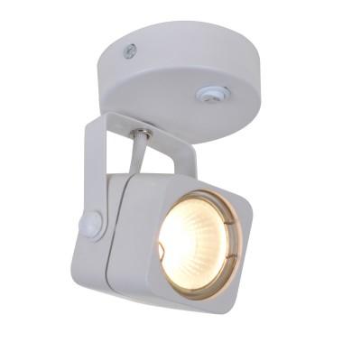 A1314AP-1WH Arte lamp СветильникОдиночные<br><br><br>Тип цоколя: GU10<br>Количество ламп: 1<br>MAX мощность ламп, Вт: 50W<br>Диаметр, мм мм: 80<br>Размеры: D80*H115mm<br>Длина, мм: 140<br>Высота, мм: 80<br>Цвет арматуры: БЕЛЫЙ<br>Общая мощность, Вт: 50W