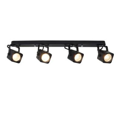 A1314PL-4BK Arte lamp СветильникС 4 лампами<br><br><br>S освещ. до, м2: 10<br>Тип цоколя: GU10<br>Цвет арматуры: ЧЕРНЫЙ<br>Количество ламп: 4<br>Диаметр, мм мм: 70<br>Размеры: L570*H115mm<br>Длина, мм: 550<br>Высота, мм: 150<br>MAX мощность ламп, Вт: 50W<br>Общая мощность, Вт: 50W