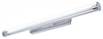 Светильник настенный бра Arte lamp A1318AP-1CC PICTURE LIGHTS LEDХай-тек<br><br><br>Тип лампы: LED<br>Количество ламп: 1<br>MAX мощность ламп, Вт: 18<br>Размеры: H9xW11xL90,5<br>Цвет арматуры: серебристый