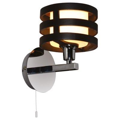 Настенный бра Arte lamp A1326AP-1BK RingСовременные<br><br><br>S освещ. до, м2: 3<br>Тип лампы: накаливания / энергосбережения / LED-светодиодная<br>Тип цоколя: E14<br>Количество ламп: 1<br>Ширина, мм: 150<br>MAX мощность ламп, Вт: 40<br>Диаметр, мм мм: 190<br>Высота, мм: 220
