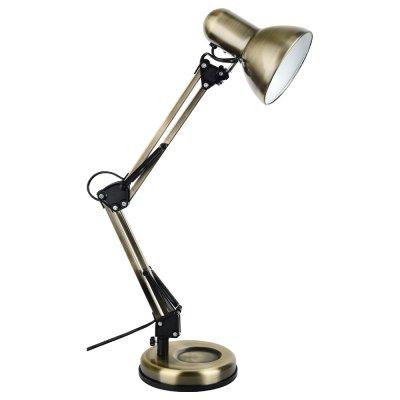 Настольная лампа Arte lamp A1330LT-1AB JuniorОфисные<br>Настольная лампа – это не просто источник дополнительного освещения, но и оригинальный элемент декора. Его можно установить в спальне, гостиной, кабинете и других комнатах. Интернет-магазин «Светодом» предлагает настольные лампы разных стилей по доступным ценам. Благодаря большому ассортименту Вы обязательно найдете в нашем каталоге именно ту модель, которую искали. <br> Настольная лампа Arte lamp A1330LT-1AB – прекрасный вариант для завершения интерьера. Ее можно включить одновременно с люстрой для более яркого освещения или без нее для создания уютной атмосферы, настраивающей на отдых. <br> Купить настольную лампу Arte lamp A1330LT-1AB Вы можете с помощью виртуальной «Корзины» или по контактным номерам, указанным на сайте.<br><br>Тип лампы: Накаливания / энергосбережения / светодиодная<br>Тип цоколя: E27<br>Количество ламп: 1<br>Ширина, мм: 150<br>MAX мощность ламп, Вт: 40<br>Длина, мм: 350<br>Высота, мм: 610<br>Цвет арматуры: бронзовый