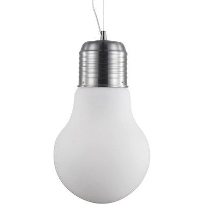 Подвесной светильник лампочка Arte lamp A1403SP-1SS EdisonОдиночные<br>Подвесной светильник – это универсальный вариант, подходящий для любой комнаты. Сегодня производители предлагают огромный выбор таких моделей по самым разным ценам. В каталоге интернет-магазина «Светодом» мы собрали большое количество интересных и оригинальных светильников по выгодной стоимости. Вы можете приобрести их в Москве, Екатеринбурге и любом другом городе России. <br>Подвесной светильник ARTELamp A1403SP-1SS сразу же привлечет внимание Ваших гостей благодаря стильному исполнению. Благородный дизайн позволит использовать эту модель практически в любом интерьере. Она обеспечит достаточно света и при этом легко монтируется. Чтобы купить подвесной светильник ARTELamp A1403SP-1SS, воспользуйтесь формой на нашем сайте или позвоните менеджерам интернет-магазина.<br><br>S освещ. до, м2: 2<br>Крепление: монтажная пластина<br>Тип лампы: накаливания / энергосбережения / LED-светодиодная<br>Тип цоколя: E27<br>Количество ламп: 1<br>MAX мощность ламп, Вт: 40<br>Диаметр, мм мм: 290<br>Длина цепи/провода, мм: 650<br>Высота, мм: 520<br>Оттенок (цвет): белый<br>Цвет арматуры: серый