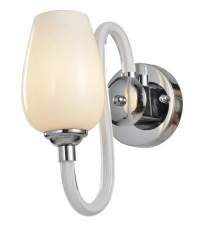 Светильник настенный бра Arte lamp A1404AP-1WH LAVINIAсовременные бра модерн<br><br><br>Тип цоколя: E14<br>Цвет арматуры: белый<br>Количество ламп: 1<br>Размеры: H30xW23xL23<br>MAX мощность ламп, Вт: 40