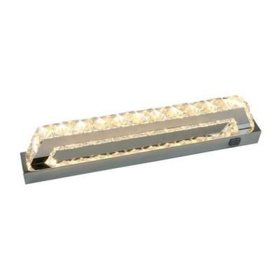 Светильник настенный Arte lamp A1410AP-1CC Trenoхрустальные бра<br><br><br>Цветовая t, К: 3000K<br>Тип цоколя: LED<br>Цвет арматуры: Серебристый хром<br>Количество ламп: 1<br>Диаметр, мм мм: 100<br>Размеры: 400MM<br>Длина, мм: 400<br>Высота, мм: 50<br>MAX мощность ламп, Вт: 10W<br>Общая мощность, Вт: 10W
