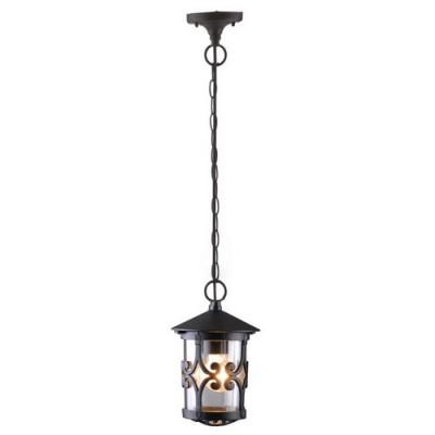 Уличный светильник Arte lamp A1455SO-1BK PersiaПодвесные<br><br><br>S освещ. до, м2: 7<br>Крепление: пластина<br>Тип товара: Светильник подвесной уличный<br>Тип лампы: накаливания / энергосбережения / LED-светодиодная<br>Тип цоколя: E27<br>Количество ламп: 1<br>Ширина, мм: 160<br>MAX мощность ламп, Вт: 100<br>Диаметр, мм мм: 160<br>Длина цепи/провода, мм: 670<br>Высота, мм: 250<br>Цвет арматуры: черный