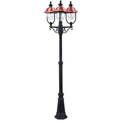 Светильник уличный Arte lamp A1486PA-3BK BarselonaБольшие фонари<br>Обеспечение качественного уличного освещения – важная задача для владельцев коттеджей. Компания «Светодом» предлагает современные светильники, которые порадуют Вас отличным исполнением. В нашем каталоге представлена продукция известных производителей, пользующихся популярностью благодаря высокому качеству выпускаемых товаров.   Уличный светильник Arte lamp A1486PA-3BK не просто обеспечит качественное освещение, но и станет украшением Вашего участка. Модель выполнена из современных материалов и имеет влагозащитный корпус, благодаря которому ей не страшны осадки.   Купить уличный светильник Arte lamp A1486PA-3BK, представленный в нашем каталоге, можно с помощью онлайн-формы для заказа. Чтобы задать имеющиеся вопросы, звоните нам по указанным телефонам. Мы доставим Ваш заказ не только в Москву и Екатеринбург, но и другие города.<br><br>S освещ. до, м2: 20<br>Тип лампы: накаливания / энергосбережения / LED-светодиодная<br>Тип цоколя: E27<br>Количество ламп: 3<br>Ширина, мм: 570<br>MAX мощность ламп, Вт: 100<br>Диаметр, мм мм: 620<br>Длина, мм: 620<br>Высота, мм: 2300<br>Цвет арматуры: черный