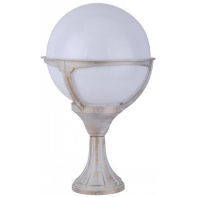Светильник уличный Arte lamp A1494FN-1WG MonacoФонари на опору<br><br><br>S освещ. до, м2: 7<br>Тип товара: Светильник уличный на столб<br>Скидка, %: 14<br>Тип лампы: накаливания / энергосбережения / LED-светодиодная<br>Тип цоколя: E27<br>Количество ламп: 1<br>Ширина, мм: 270<br>MAX мощность ламп, Вт: 100<br>Диаметр, мм мм: 270<br>Длина, мм: 270<br>Высота, мм: 450<br>Цвет арматуры: белый